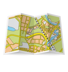 Map booklet vector