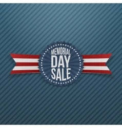 Memorial Day Sale realistic Badge and Ribbon vector image