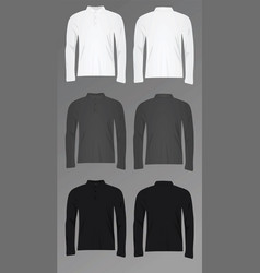 men polo t shirt long sleeve vector image vector image