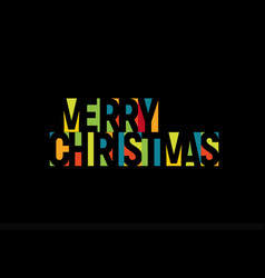 merry christmas colorful letters banner template vector image