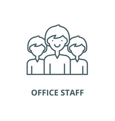office staff line icon linear concept vector image