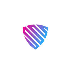 Pixel shield logo icon design vector