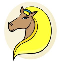 portrait of horse 2 vector image