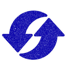 Refresh icon grunge watermark vector