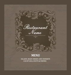 Restaurant menu book template vector