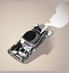 retro muscle car vector image