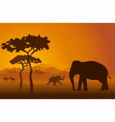 Safari scene vector