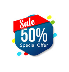 Sale 50 special offer template design vector