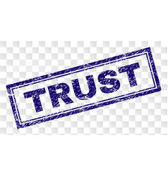 Scratched trust rectangle stamp vector