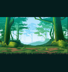 Seamless background with forest vector