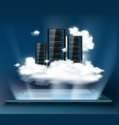 server for data storage vector image