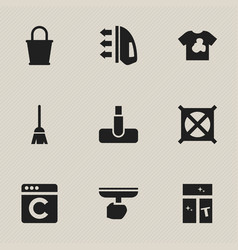 Set of 9 editable dry-cleaning icons includes vector