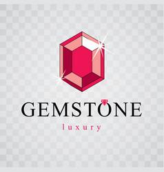 shining gemstone design element luxury diamond vector image