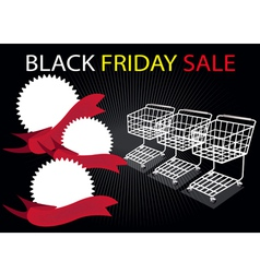 Shopping Carts and Banners in Black Friday vector