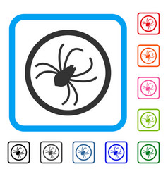 Spider framed icon vector