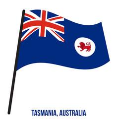 Tasmania tas flag waving on white background vector