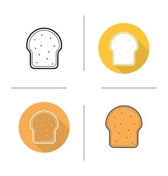 Toast icons vector