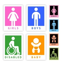 Toilet colored stickers new set vector image