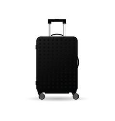travel bag black vector image
