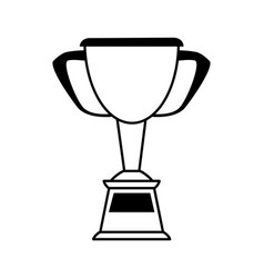 Trophy cup prize or award icon image vector
