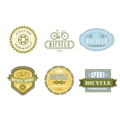 Typographic Bicycle Themed Label Design Set - Bike vector