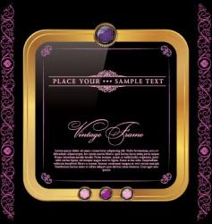 vintage golden and pink frame vector image