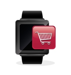 wearable technology design social media icon vector image