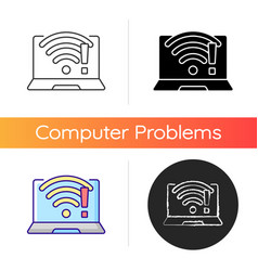 wi fi does not work icon vector image