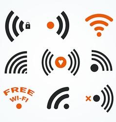 Wifi symbols vector