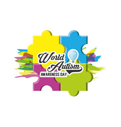 World autism awareness day design vector