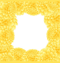 Yellow dahlia border vector