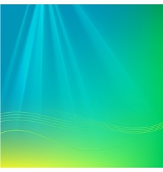 Abstract background with rays and waves vector