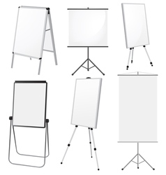 Blank Promotion Stand set vector image vector image