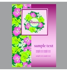 Flower card space for your text for business needs vector image