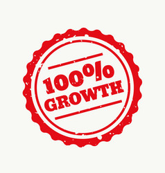 Growth stamp in red vector