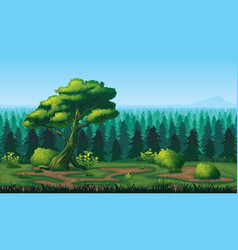 seamless background of landscape with deep fir vector image vector image