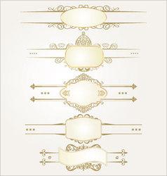 decorative ornate elements vector image