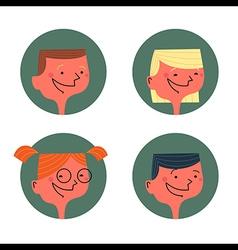 Kids avatars vector image