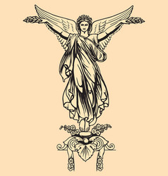 vintage of angel vector image vector image