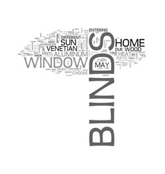 a glimpse on window blinds text word cloud concept vector image vector image