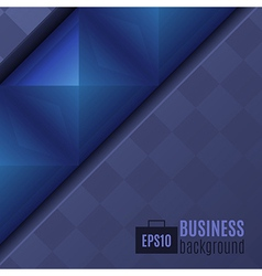 Abstract Dark Business Background vector image