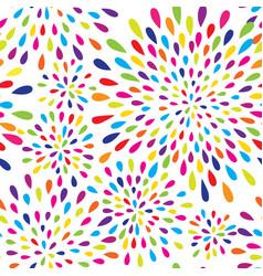 abstract splash drop pattern firework spot vector image vector image