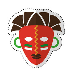 african mask ethnicity icon vector image