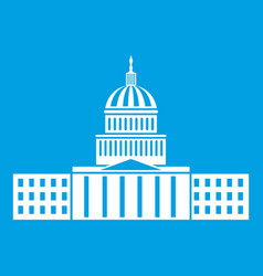 capitol icon white vector image vector image