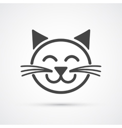 Cute cat icon element for design vector image
