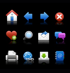 Professional Icons Navigation Black vector image vector image