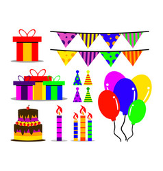 birthday asset collection vector image