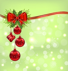 Elegant packing with Christmas balls vector image vector image