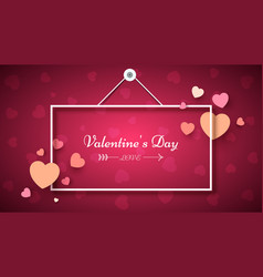 heart frame valentine s day vector image vector image