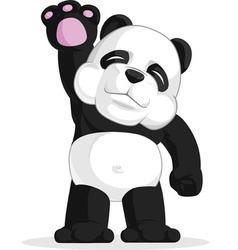Panda Waving His Hand vector image